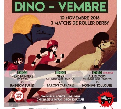 DINOVEMBRE ROLLER DERBY TOULOUSE