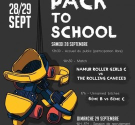 PACK TO SCHOOL MY ROLLER DERBY AMIENS