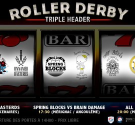 TRIPLE HEADER MERIGNAC BORDEAUX MY ROLLER DERBY